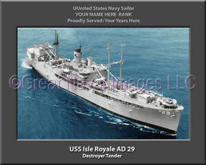 USS Osprey AM 56 Personalized Canvas Ship Photo Print Navy Veteran Gift