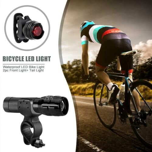 Taillight Bike Waterproof XML-T6 LED Rear Lamp 1000lm Bicycle Front Headlight