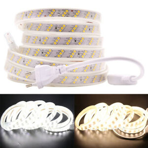 220V-240V-Led-strip-2835-180Leds-m-Three-Row-Waterproof-flexible-tape-light-New