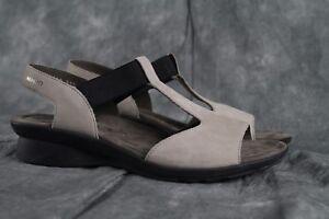 NEW Mephisto Petrea Pull-On Light Gray Nubuck Sandal EU Size 40 ANB ... e36519dbbe2