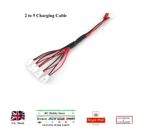 Lipo Batterie 2 To 5 câble chargeur plomb adaptateur 2Pin pour Hubsan Walkera LADYBIRD