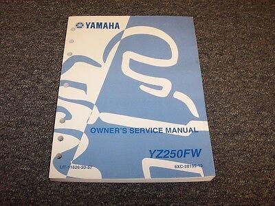 Yamaha yz450f(w) 2007 service repair manual pdf download tradebit.