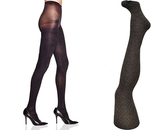 176994dbd4f18 HUE Tights Flecked Opaque With Control Top Stockings Almost Black 15823 M/l
