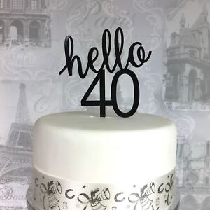 40th Birthday cake topper 40 acrylic topper any age 18 21 30 50 60