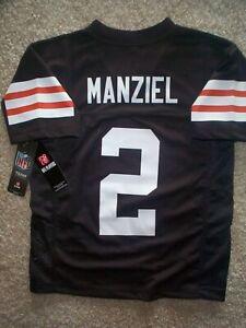 55) Cleveland Browns JOHNNY MANZIEL nfl Jersey YOUTH KIDS BOYS (s ...