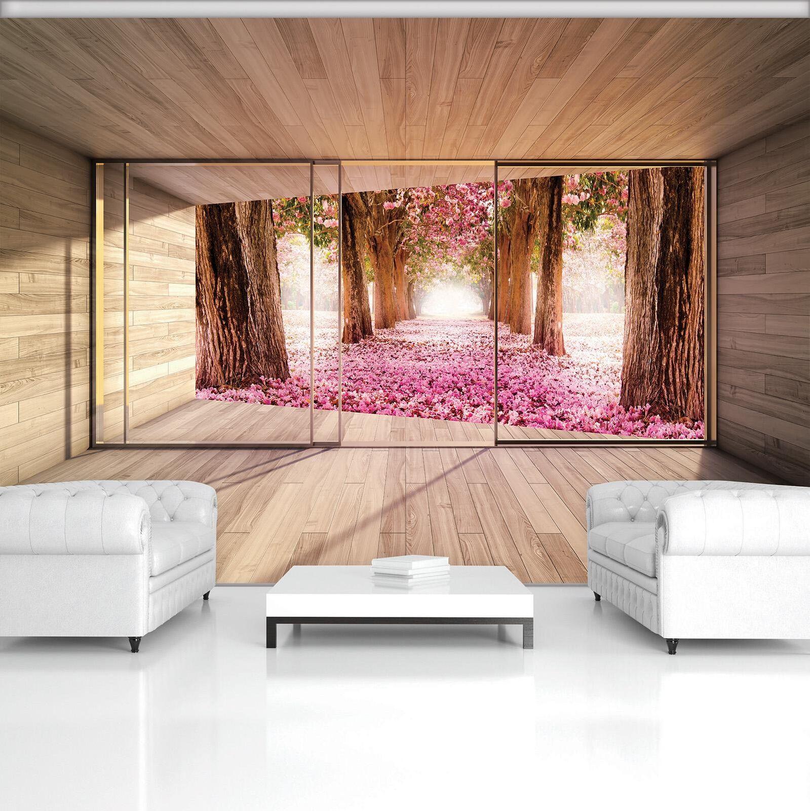 Photo Wallpaper Mural Non-woven 20003_VEN Flower Alley Terrace View Nature Plant