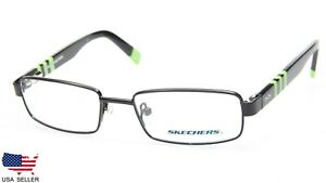 Details about NEW SKECHERS Boy's SK 1068 BLKGRN BLACK GREEN EYEGLASSES FRAME 46 16 130 B25mm