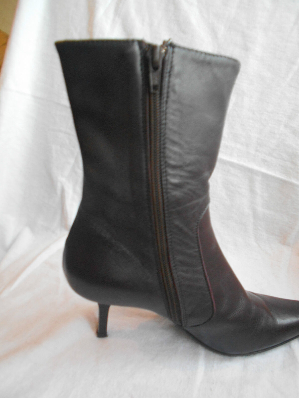 Max Monelli Boots Brown 100Leather Kitten Mid-Calf Boots Monelli size UK 4 Used Once RPP ac3068