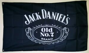 Jack Daniels Banner 3x5 ft Flag Bar Promotion Tiki Decor Man Cave Whiskey Logo