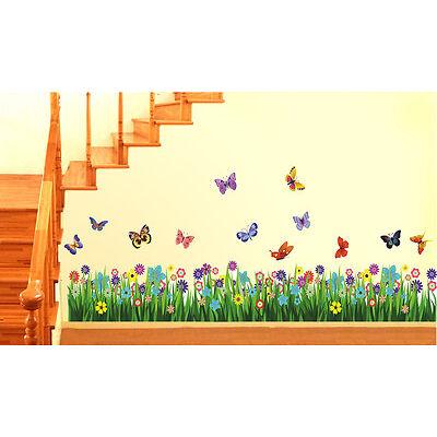 Wall Stickers Wall Decals Walking in the Garden Flower Border Design