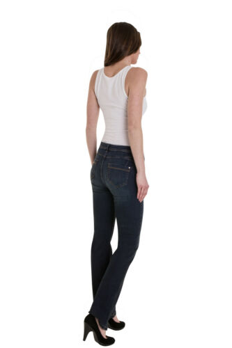 Ex M/&S Ladies Per Una Roma Rise Slim Bootcut Stretch Cotton Jeans Marks Spencer