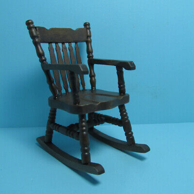 Dollhouse Miniature Unfinished Rocking Chair with Spindle Back ~ CLA08651