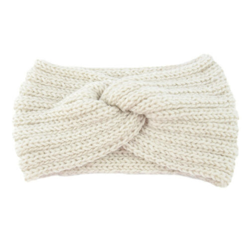 Winter Women Hair Band Accessories Turban Headband Bow Knot Knitted