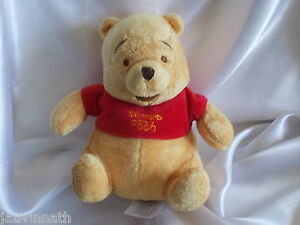 Doudou-Winnie-l-039-ours-tee-shirt-rouge-Disney-H-amp-M