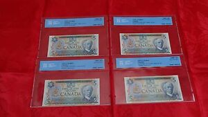 1979-Bank-of-Canada-5-Note-CCCS-Certified-UNC-65-amp-66-Gem-Uncirculated