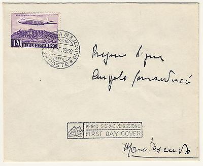 Rigoroso Busta Di San Marino Volo Rimini Londra 1959 Posta Aerea Fdc Annullo Speciale Disponibile In Vari Disegni E Specifiche Per La Vostra Selezione