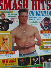 SMASH HITS 3/4/91 - VANILLA ICE - NEW KIDS ON THE BLOCK - JASON PRIESTLEY