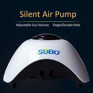 Adjustable-Silent-Air-pumps-White-5W-10W-Aquarium-pump-Quiet-Single-Twin-Valve
