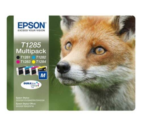 4 Epson T1285 Original Drucker-Tintenpatronen Mehrstückpackung