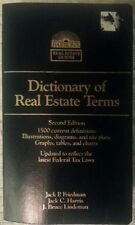 Dictionary of Real Estate Terms by Friedman, Harris, & Lindeman Paperback Chatt-