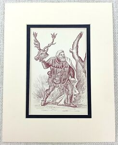 1889 Antico Stampa Sir John Falstaff Merry Wives Di Windsor William Shakespeare