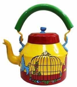 Indian Colorful Decorative Tea Kettle Hand Painted Traditional