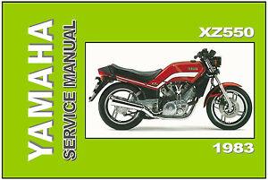 yamaha workshop manual xz550 1982 and 1983 service and repair xz400 rh ebay com