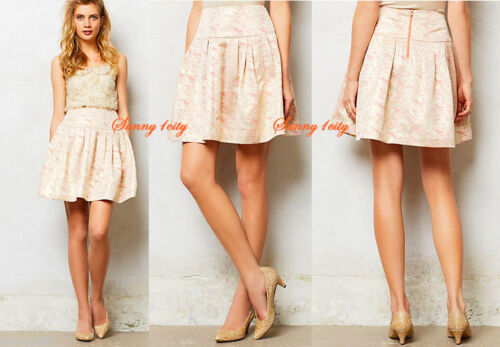 Rare! NEW sz 6 8 Anthropologie Sugarplum Brocade Skirt By Moulinette Soeurs
