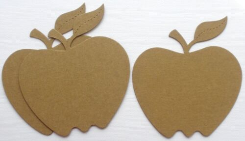 {3} APPLES Teacher Fruit  Bare Apple Chipboard Die Cuts Embellishments