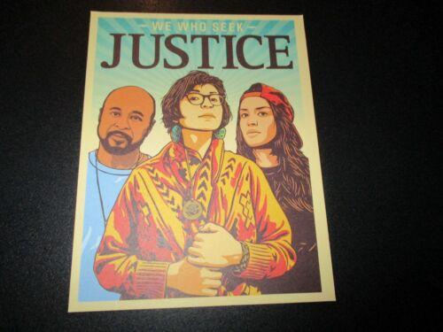 ERNESTO YERENA We Who Seek Justice Postcard Print Handbill poster shepard fairey