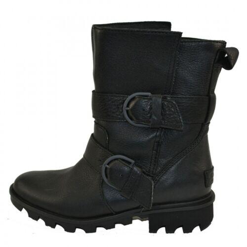 Sorel Phoenix Moto Damen Leder Boots Stiefel Stiefeletten Waterproof Schuhe Schw