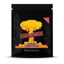 10 EXPLOSIVE Male Enhancement GEL-CAPS / Sex Pills for Maximum Erectile Support