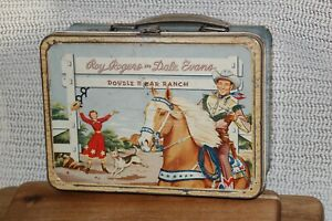 1958 Roy Rogers Dale Evans Double R Bar Ranch Thermos American Co Lunchbox With