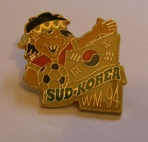 WORLD-CUP-94-USA-SOCCER-SOUTH-KOREA-Limited-Edition-500-vintage-pin-badge-Z8J