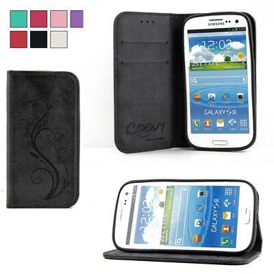 Designer Cover Tasche Hülle Case mit Kartenfach für Samsung Galaxy S3