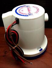 "Marine Boat 1500 GPH ABS Automatic Bilge Pump 12V Straight Hose Adaptor 1 1/8"""