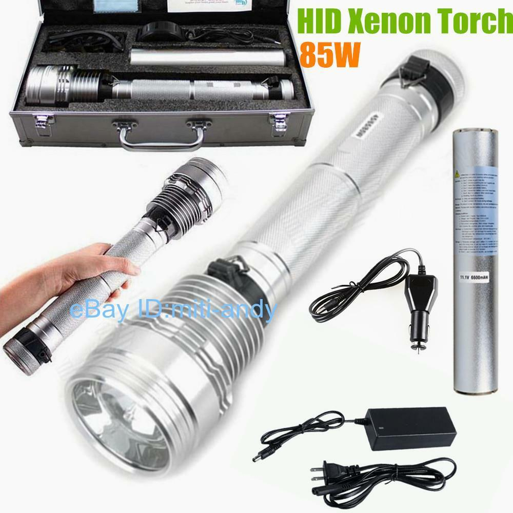 85W 8500Lumen HID Xenon Light Spotlight Aluminum Alloy HID Flashlight Lamp Torch
