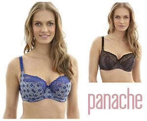 703942afa1 Image is loading Panache-Jasmine-Balcony-Bra-6951-Mosaic-Print-Black-