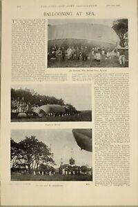 1897-PRINT-BALLOONING-AT-SEA-GERMAN-WAR-BALLOON-CAR-amp-ATTACHMENTS