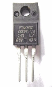 STF3NK80Z marqué F3NK80Z ST MOSFET N-CH 2.5 A 800 V supermesh-afficher le titre d`origine