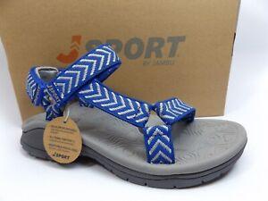 9b2064fc40379 Details about J Sport Jambu Womens Navajo-Water Ready River Sport Sandals  SZ 6.0 M BLUE D9983