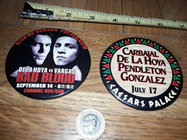 * Réduit * 2 X 1990 S Boxer Osar De La Hoya Boxe Pin Pinback Badge Boutons Lot 8 Style à La Mode;
