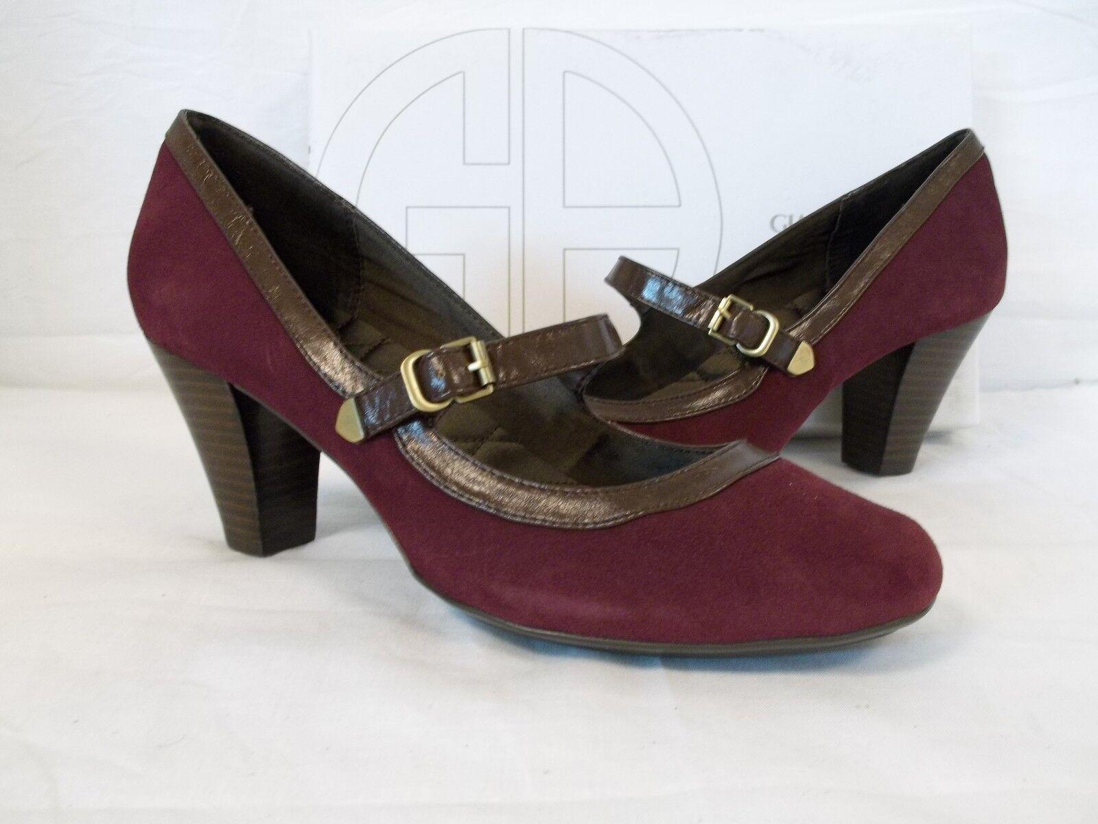 Giani Bernini Size 6 M Dawin Bordeaux Leather Mary Janes Heels New Womens Shoes