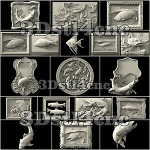 18-3D-STL-Models-Fishing-Panels-for-CNC-Router-Carving-Machine-Artcam-aspire