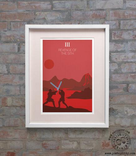 Revenge of Sith Minimalist Poster Posteritty Minimal Art STAR WARS Episode III