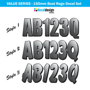 Image is loading Boat-Rego-Decal-Set-150mm-Registration-Stickers-VIC-