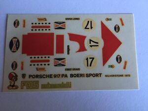 PORSCHE-971-PA-BOERI-SILVERSTONE-1972-DECAL-decals-SCALA-1-43