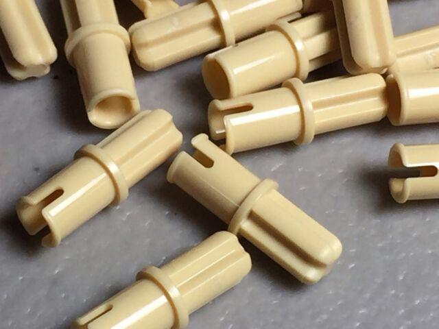 Lot of 20 Lego Technic Light GRAY PIN without Friction Ridges Lengthwise