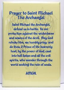 Details about Saint Michael Archangel Prayer 2