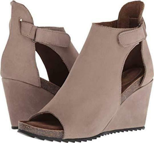 NEW Diba True New Year Peep Toe Cutout Wedge Taupe Dimensione 6 6.5 7 7.5 8 8.5  9.5
